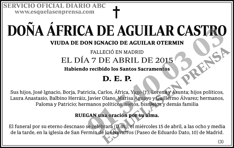 África de Aguilar Castro
